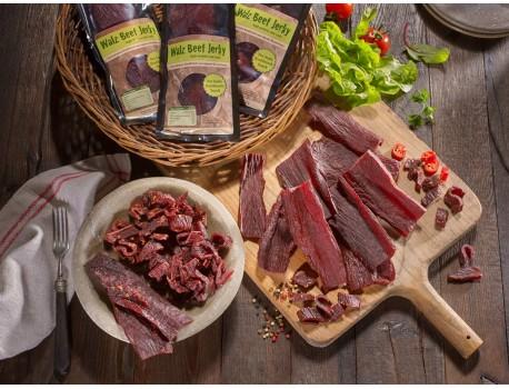 6er Pack Beef Jerky · in unterschiedlichen Geschmacksrichtungen